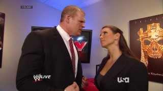 getlinkyoutube.com-Stephanie McMahon, Brad Maddox & Kane Backstage