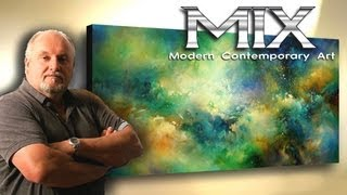 "getlinkyoutube.com-Abstract Art painting 'ETERNITY' Modern,contemporary, Mix Lang how to Demo."" x 72"""