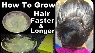 how to make hair grow faster overnight | aloe vera for hair growth home remedies, DIY, hair hacks
