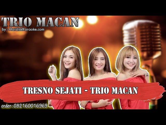 TRESNO SEJATI - TRIO MACAN karaoke tanpa vokal | KARAOKE TRIO MACAN
