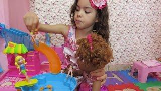 getlinkyoutube.com-Baby Alive Eloise Rotina da manhã e brincadeira de Polly