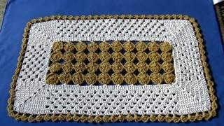 getlinkyoutube.com-Tapete em croche - PARA CANHOTA