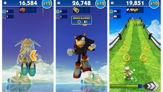 getlinkyoutube.com-Sonic Dash: Sonic Boom SILVER vs SHADOW vs AMY