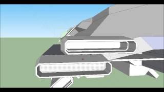 getlinkyoutube.com-Google Sketchup SpaceShip Modeling - TFS-ALITA