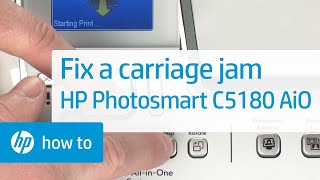 getlinkyoutube.com-Fixing a Carriage Jam - HP Photosmart C5180 All-in-One Printer
