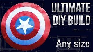 Make a Captain America Shield - Any Size DIY Tutorial