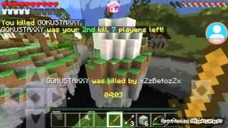 getlinkyoutube.com-Minecraft PE 0.13.1 sky wars: o azar sempre!!!