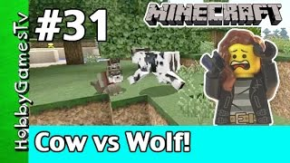 getlinkyoutube.com-Trixie Minecraft 31 Cow vs Doggy HobbyPig Webcam Xbox 360 by HobbyGamesTV