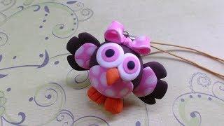 getlinkyoutube.com-Polymer clay/Fimo tutorial- Baby Owl/ Corujinha