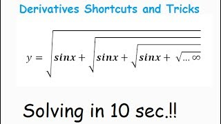DIFFERENTIATION Shortcuts AND Tricks for IIT JEE : Class 12 CBSE