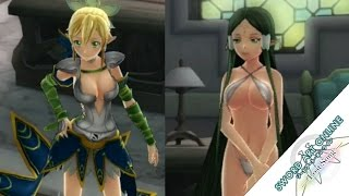 getlinkyoutube.com-Sword Art Online: Lost Song - Outfit Costumes Showcase - Including DLC School Uniforms + Swimsuits