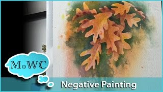getlinkyoutube.com-Negative Painting Leaves in Watercolor
