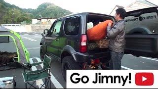 ジムニー車中泊の朝