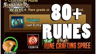 getlinkyoutube.com-SUMMONERS WAR : 80+ Runes Crafting Spree :D