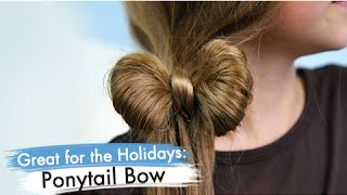getlinkyoutube.com-Ponytail Bow | Back-to-School | Cute Girls Hairstyles