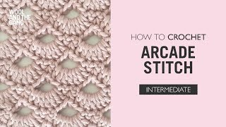 getlinkyoutube.com-How to work the arcade stitch - Crochet