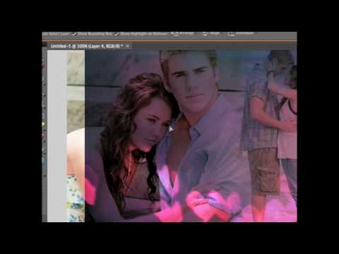 How to: Blend and Apply Textures in Photoshop Tutorial (Miley Cyrus and Liam Last Song Blend)