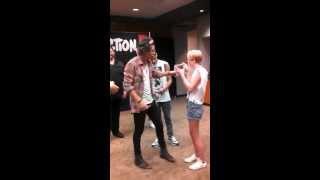 getlinkyoutube.com-Kayla Adams One Direction meet and greet Take Me Home Tour 2013