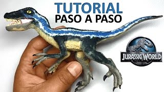 getlinkyoutube.com-★ jurassic world - Como hacer un Dinosaurio Velociraptor de plastilina
