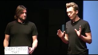 A rich life with less stuff | The Minimalists | TEDxWhitefish width=