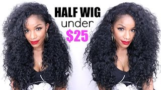 getlinkyoutube.com-Curly Half Wig Under $25 ! TheBrilliantBeauty