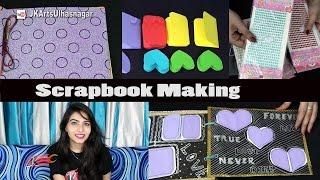 Scrapbook Making - 5 Bases, 26 Greeting Cards and Scrapbook Material and Tools | JK Arts 1144