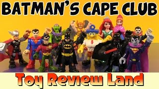 getlinkyoutube.com-Batmans Cape Club Adventure! with Imaginext Robin, Superman, Spongebob, Princess Anna, and More!