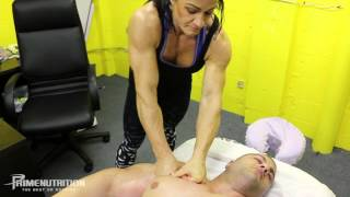 getlinkyoutube.com-IFBB Pro Evan Centopani Massaged By Jess Silver @ Prime Nutrition Offices
