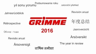 Grimme | The year in review 2016