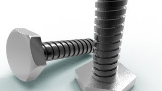 3D modelling ACME bolt using AutoCAD