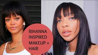 getlinkyoutube.com-Rihanna Inspired Hair + Makeup