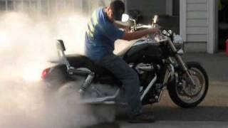 getlinkyoutube.com-Kawasaki Mean Streak Burnout