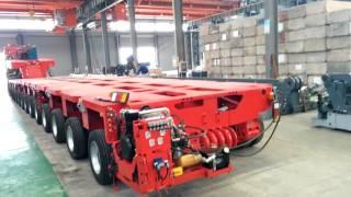 getlinkyoutube.com-Goldhofer THP/SL--Modular Trailers--Nicolas MDED--Hydraulic Multi Axle--CHINA HEAVY TRANSPORTER
