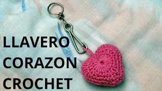 getlinkyoutube.com-Como tejer un Llavero corazón  San Valentín en tejido crochet tutorial paso a paso.