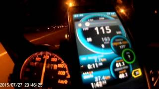 getlinkyoutube.com-Topspeed kawasaki 150rr with gps ulysse speedomete