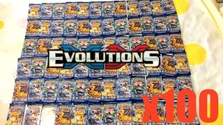 getlinkyoutube.com-Pokemon Cards - 100 EVOLUTIONS pack opening! $400 worth! Pokemon TCG unboxing