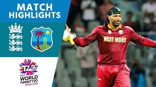 England v West Indies ICC World Twenty20 Cricket Highlights