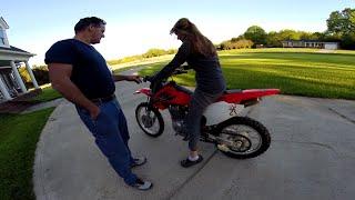 getlinkyoutube.com-Husband Buys His Wife a Dirt Bike!