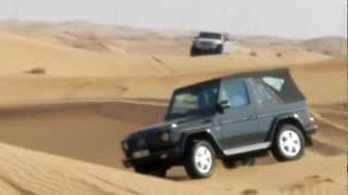 getlinkyoutube.com-Mercedes G500 attacking sand dunes