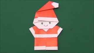 getlinkyoutube.com-Japanese Origami「Santa Claus」簡単!サンタクロースの折り方