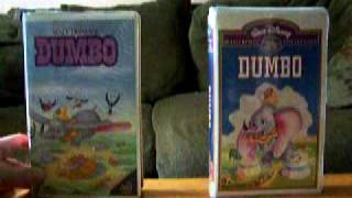 2 Different VHS Versions Of Dumbo