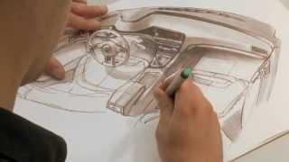 getlinkyoutube.com-Volkswagen Golf - Interior Design Sketches   AutoMotoTV