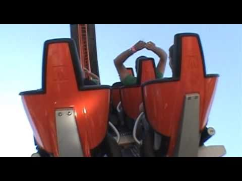 Abismo Roller Coaster Back Seat Onride POV Break Down Parque de Atracciones Madrid