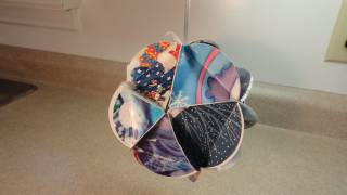 getlinkyoutube.com-Recycled Christmas Card Ball Ornaments (Geodesic Paper Ball Ornament)