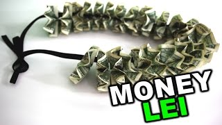 getlinkyoutube.com-How to make a money lei for graduation or wedding gift, DIY tutorial