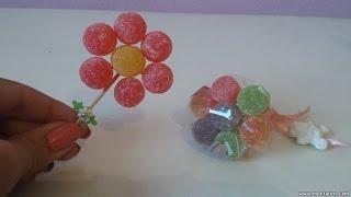 getlinkyoutube.com-Como fazer flor de Jujuba (bala de goma) - DIY - Faça você mesma