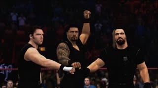getlinkyoutube.com-WWE 2K15 - The Shield Vs. Evolution 6 Man Elimination Tag Team Match