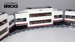 getlinkyoutube.com-Lego City 60051 High Speed Custom Double Decker Passenger Train Car Speed Build