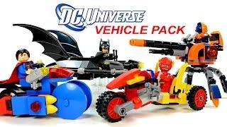 getlinkyoutube.com-LEGO DC Super Heroes Batman Superman Deathstroke & The Flash KnockOff Vehicle Pack Speed Build