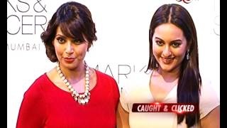 Sonakshi Sinha & Bipasha Basu At An Event